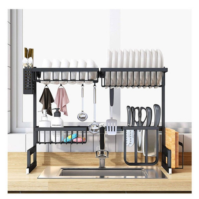 dish drying rack over sink kitchen storage shelf countertop space saver display stand