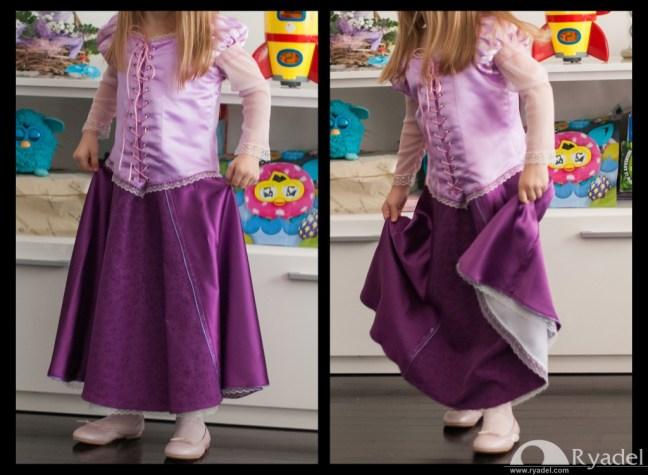 Rapunzel Tangled Cosplay - Corset Skirt Gown junction 4 - Handmade Tailor