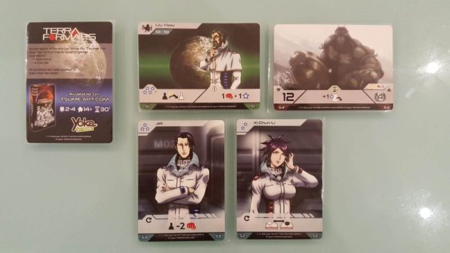 Terra Formars Board Game Review, Promo Card Rules and Photos