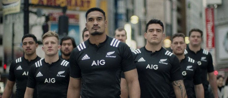 "Il ""Rugby preventivo"" dei New Zealand All Blacks nel nuovo spot di AIG Japan - #TackleTheRisk!"