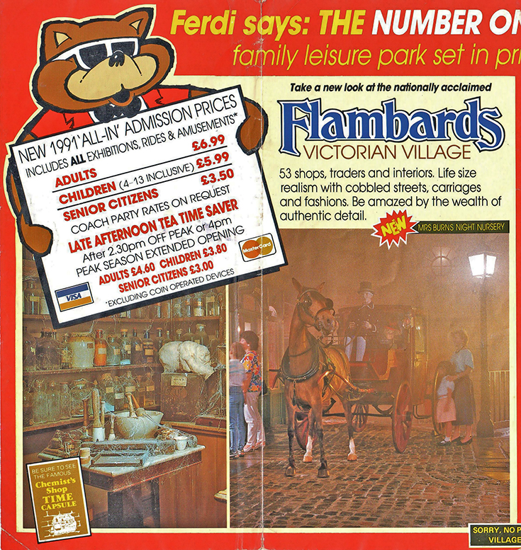 Flambards Theme Park: Vintage Flyer from season 1991