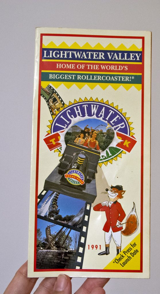 Lightwater Valley Theme Park: Vintage Flyer and Map from season 1991