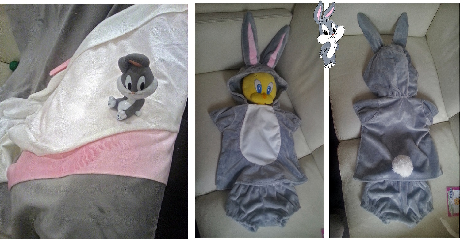 Babies and Toddlers look adorable when wearing a costume but they usually find unconfortable any clothing that constrains their movement or thightens their ... & Toddler costume ideas: Bugs Bunny from Baby Looney Tunes tutorial