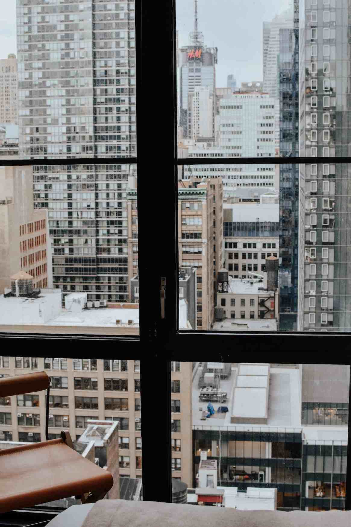 view from a window at the streets of new york - Hana's personal brands story