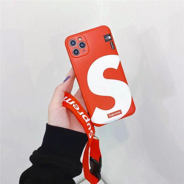 シュプリーム iphoneケース カップル ストラップ 付き iphone12/12pro max ケース 高校生 Supreme iphone11pro max/xr/se2 ケース おしゃれ 海外 アイフォンxs max/x/8plus ケース 衝撃に強い