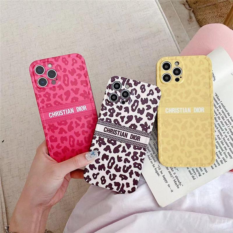 dior 風 iphone12/11pro max ケース ヒョウ 柄 ディオール iphone12pro maxケース おしゃれ 海外 アイフォン11/xs/xr 携帯ケース イエロー ローズ レッド iphone7/8/se2 スマホカバー 大人可愛い