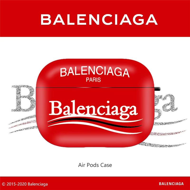 balenciaga ロゴ airpodsケース カップル バレンシアガ エアーポッズ1/2 保護ケース ブランド メンズ airpods pro ケース おしゃれ 人気 エアポッド プロ ケース