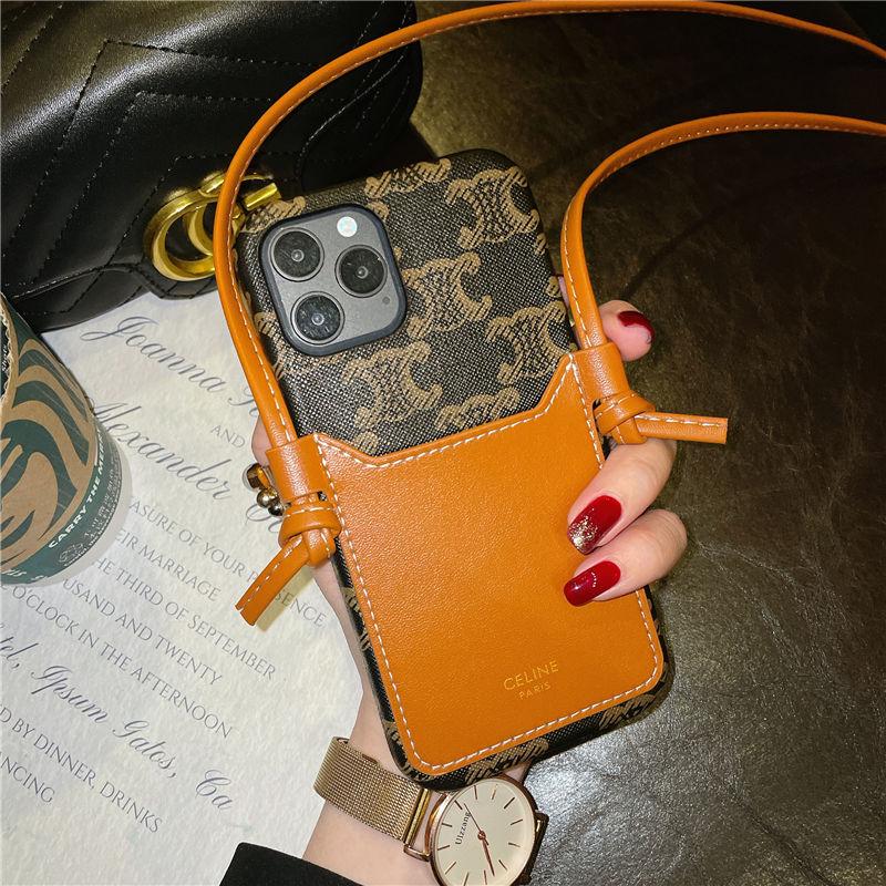 セリーヌ スマホケース iphone12/12pro 背面 収納 celineブランド iphone11pro/x/xs max 携帯ケース 斜め掛け レディース アイフォン11/xr カバー 可愛い