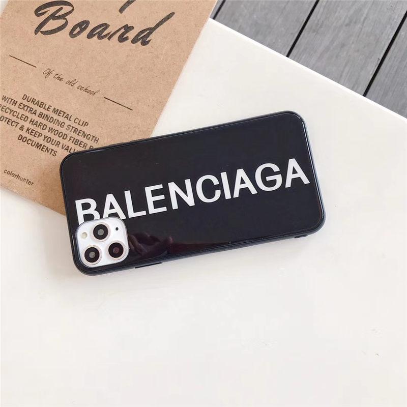 カップル スマホケース iphone12/12mini バレンシアガ iphone11pro max/11/se2 ガラスケース ハード ソフト BALENCIAGA iphonex/10s カバー シンプル アイフォンケース7/8