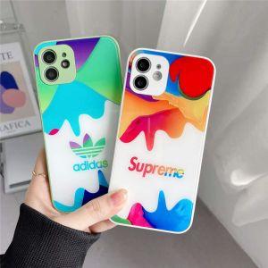 ナイキ スマホケース ガラス supreme iphone13/12mini ケース カラフル ペア アイフォン12/11pro max/xs ガラスカバー ブランドコピー スマホケースx/se2 激安