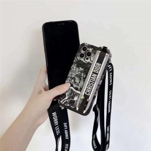 dior iphone13ケース 激安 iphone13pro/12pro maxケース 肩掛け ディオール スマホケース iphone11pro/10r ベルト スタンド機能 アイフォンxr/xs maxカバー お 揃い
