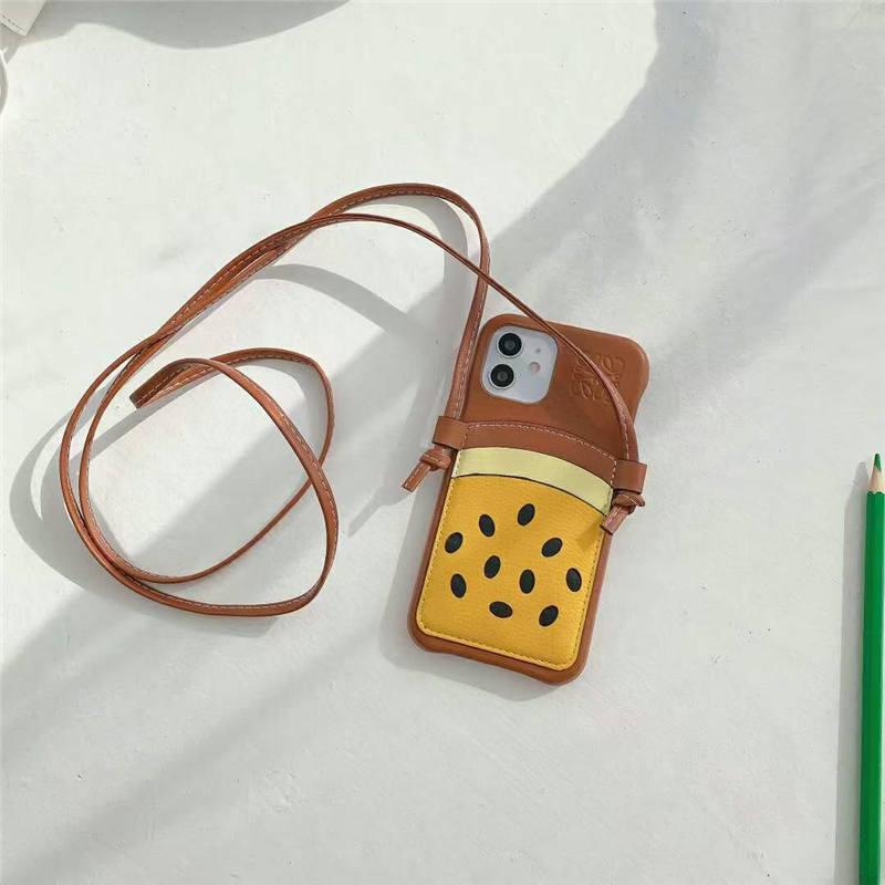 ロエベ iphone12 ショルダー ケース 可愛い loewe風 iphone12pro max/11pro 保護カバー カード 収納 スイカ アイフォン11/x/xs amx ケース オリジナル おすすめ