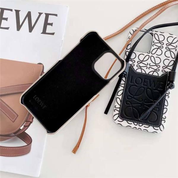 iphone12 スマホケース 肩掛け 韓国 loewe iphone12pro max/11proケース カード収納 ロエベ風 iphone ショルダーケース x/xs max 人気 女子