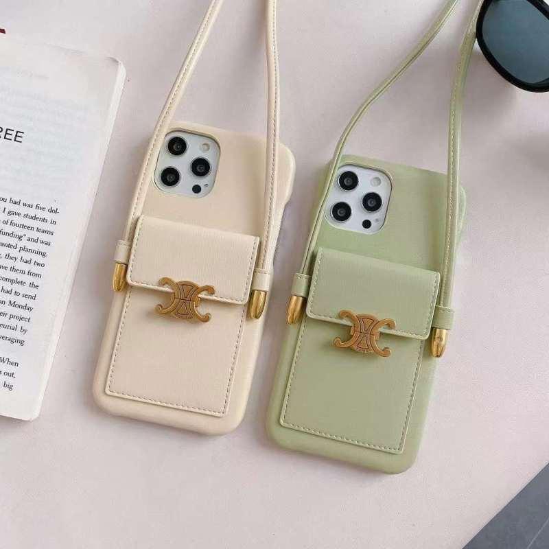 セリーヌ スマホショルダーケース 背面収納 iphone12pro max ケース パステルカラー iphone12/11pro カバー 可愛い 女子 アイフォンカバーxs/xr オシャレ