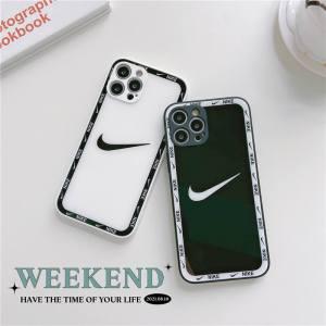nike スマホケース iphone13 シンプル ナイキ iphone12/12pro max ケース おしゃれ メンズ iphone11/x/xr 保護カバー 背面ガラス カップル