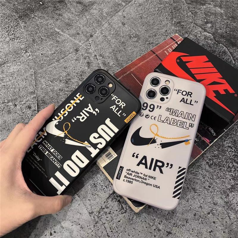 高校生 男子 スマホケース iphone13/13pro かっこいい Nike アイフォン12pro max/12ミニカバー ナイキ オフホワイト iphone11/xs/xr 携帯ケース ペアルック