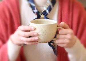 花個紋 信楽焼マグカップ-スープカップとして