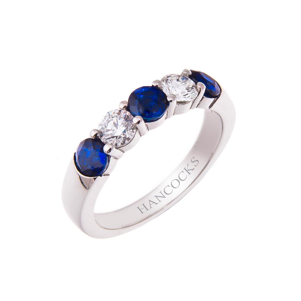 Platinum Sapphire And Diamond Eternity Ring Hancocks