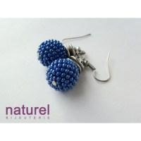 Deep Blue Beaded bead earrings - Earrings - Jewerly ...
