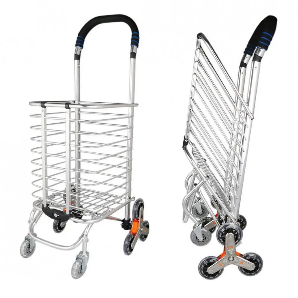 8 Wheels Folding Portable Stair Climbing Shopping Cart