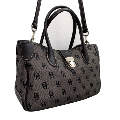 0b2f861401df Dooney and Bourke – Signature Tote in Black and Gray