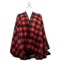 S6003006 BLACK/RED - Scarves - Fashion World