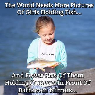 GIRL HOLDING FISH- being a woman