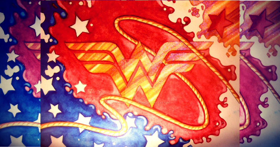 Wonder Woman logo Art- original image source: http://justjaymiartbydesign.deviantart.com/art/wonder-woman-logo-II-398127680