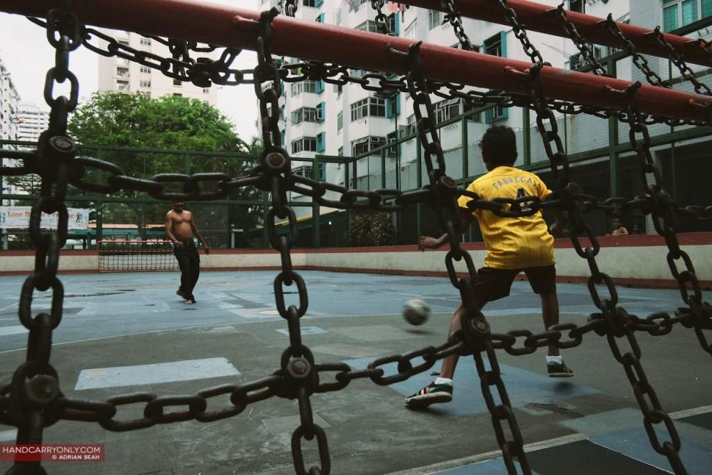 Father Son football goal