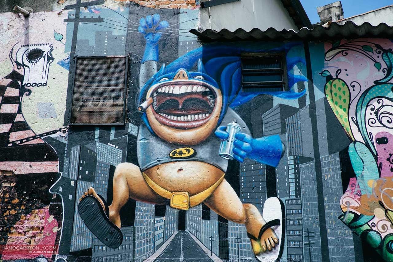 buco do batman graffiti sao paulo brazil