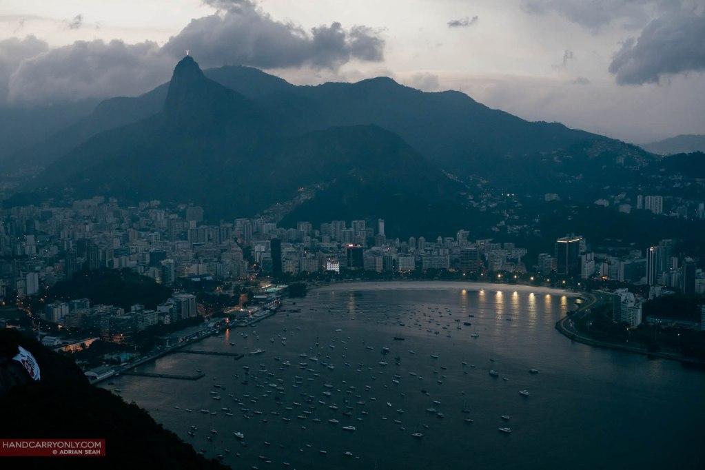 The district of Botafogo, Rio de Janeiro at twilight