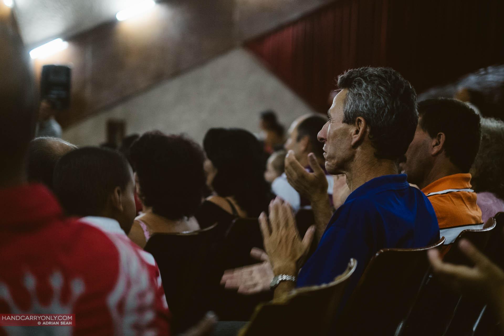 Cubans at a propaganda event