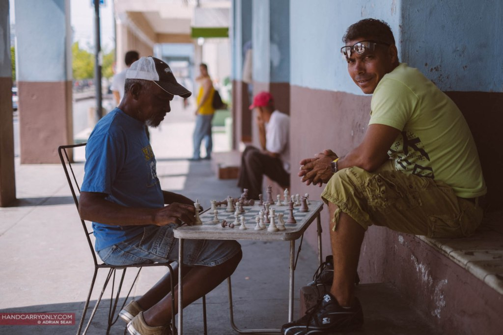 Chess players by the road, Cienfuegos, Cuba