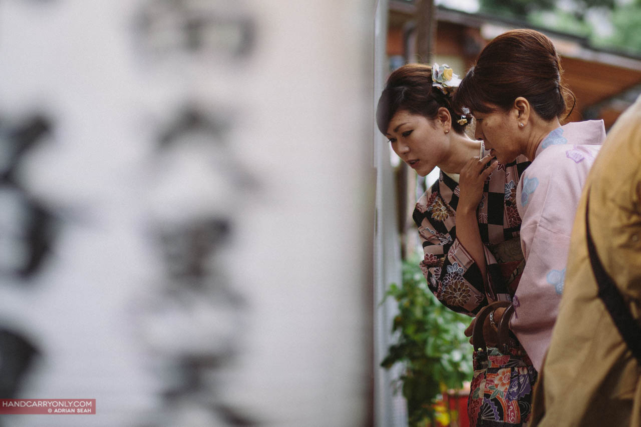 kimono mother and daughter in kyoto japan