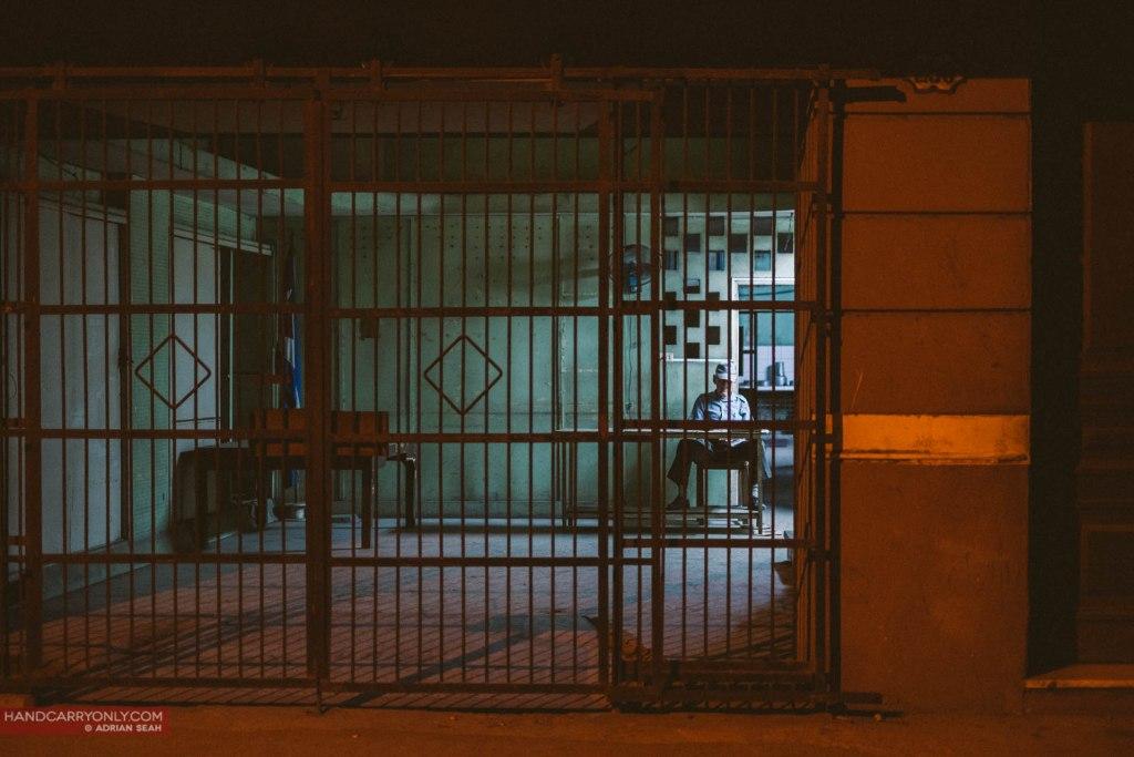 security guard behind the gate havana cuba