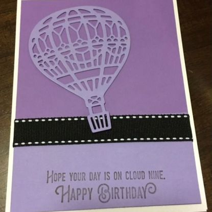 Cloud nine birthday card