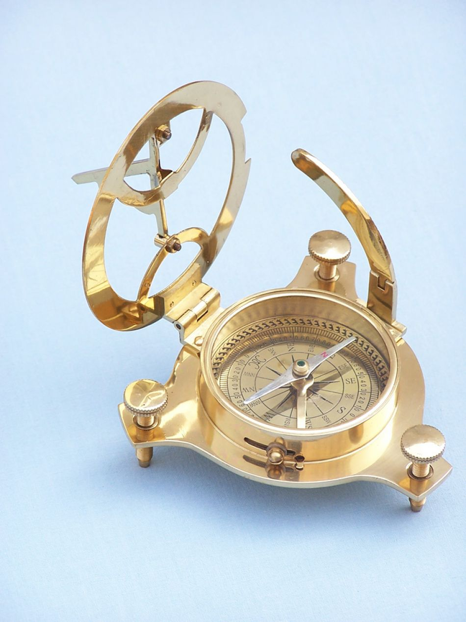 Buy Brass Triangle Sundial Compass 7in  Model Ships