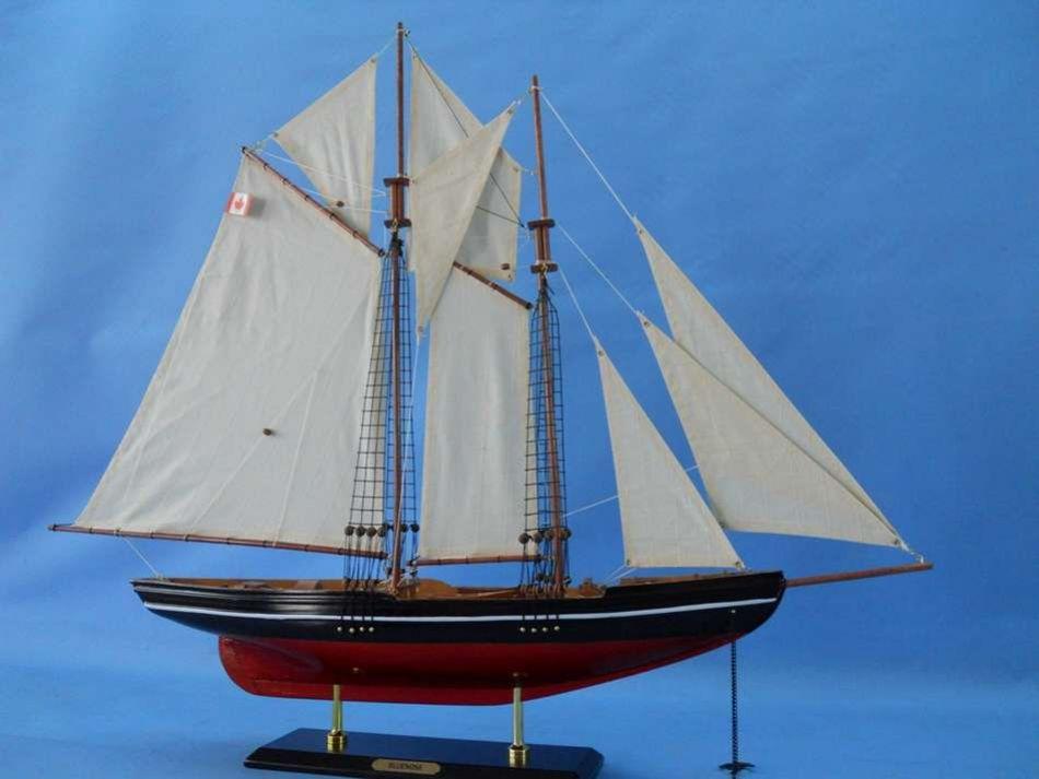 Buy Wooden Bluenose Model Sailboat Decoration 35in Model