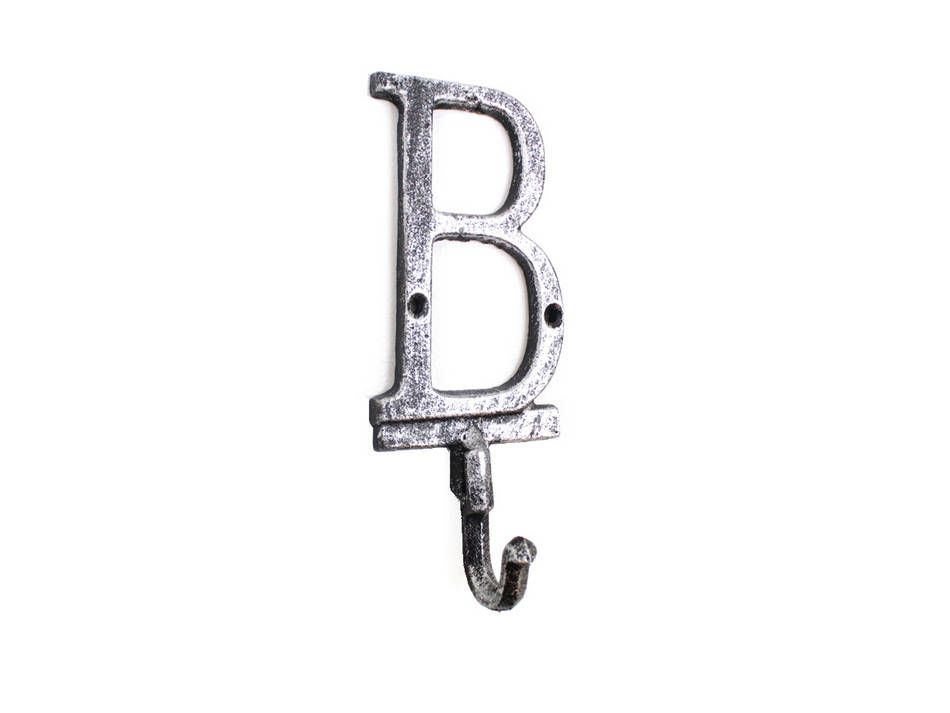 Wholesale Rustic Silver Cast Iron Letter B Alphabet Wall