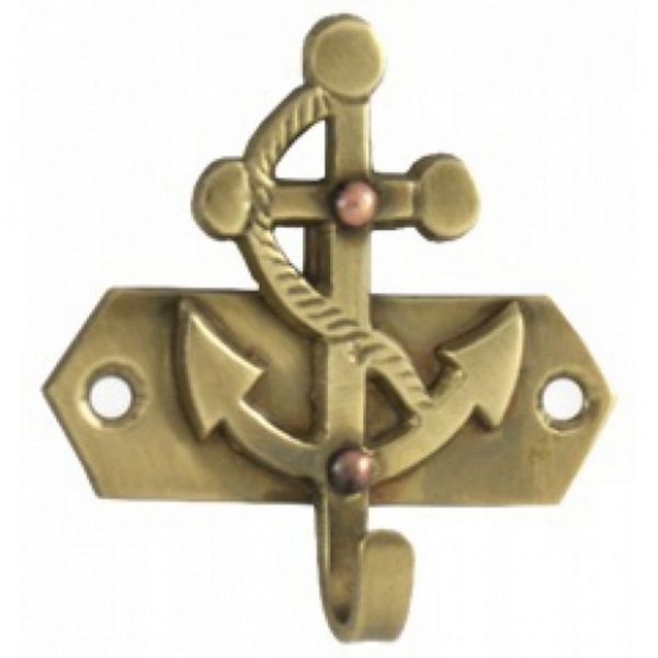 Anchor Nautical Solid Brass Hook