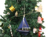 Buy Wooden Deep Blue Sea Model Sailboat Christmas Tree ...