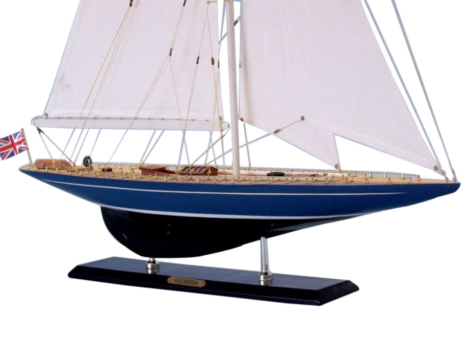 Velsheda Limited 35 Wooden Model Sail Boat Wood
