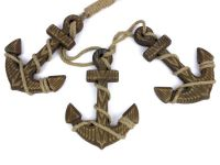 Buy Wooden Rustic Decorative Triple Anchor Set 7 Inch ...