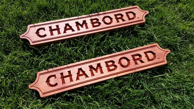 Engraved Logo for Chambord Liqueur