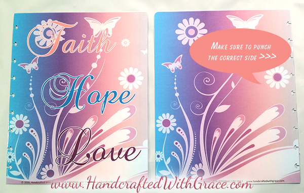 DIY Disc Bound Scripture Study and Prayer Journal with FREE 14 page PDF with Faith, Hope, Love Cover by www.HandcraftedWithGrace.com