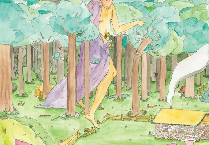 Giant Gnome - Watercolors by Ben Hance | © 2011 Hand Drawn Records