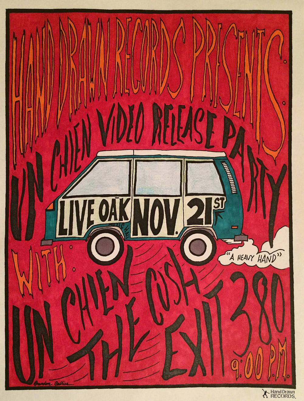 Un Chien Video Release Party at Live Oak Music Hall // Art by Brandon Callies