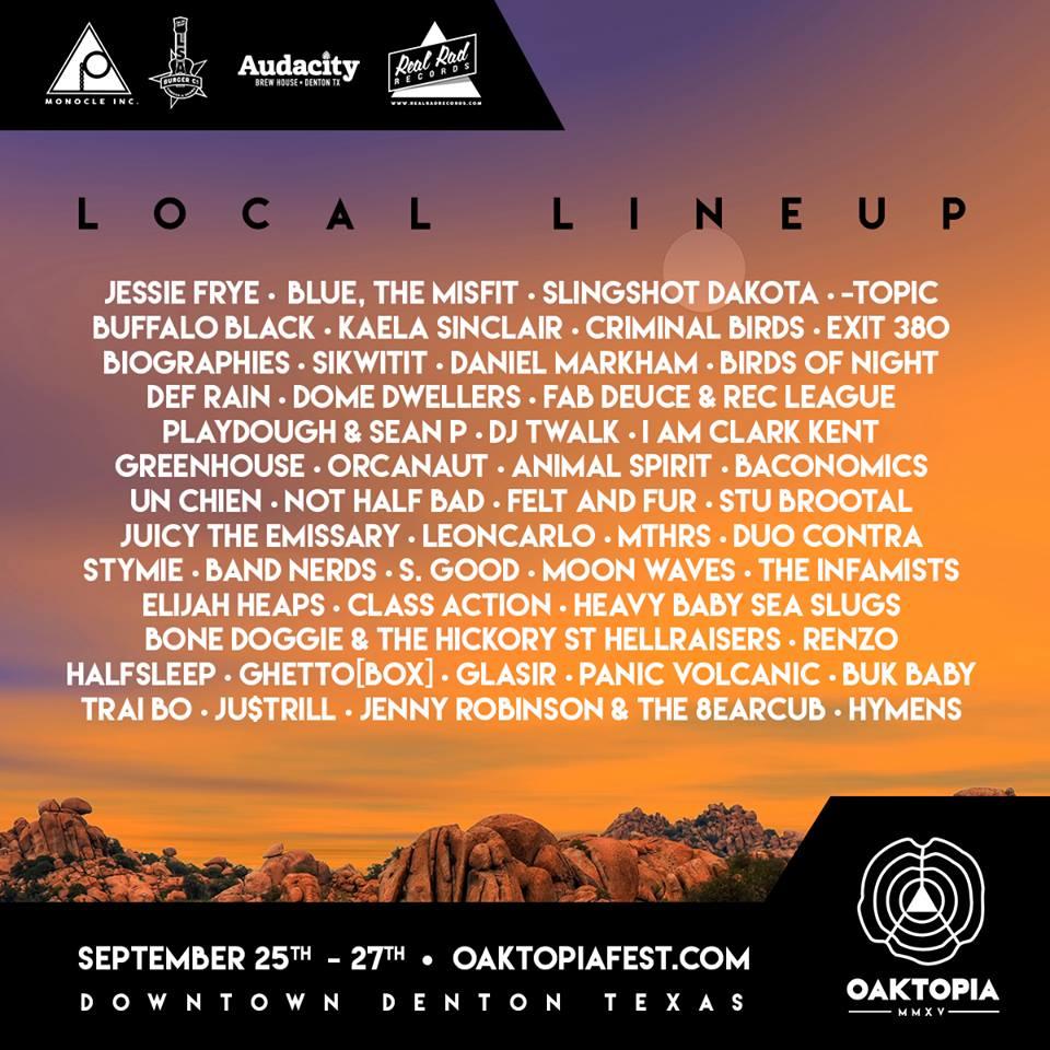 Oaktopia 2015 Local Lineup PART 2