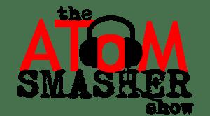 Atom Smasher Radio Show, 102.1 KDGE // Logo