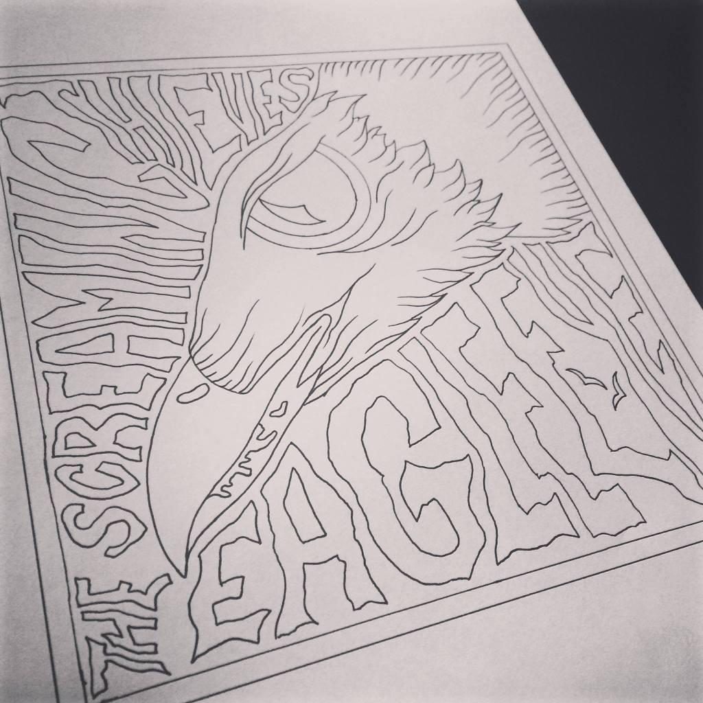 """Eagle Eye"" by The Screaming Thieves, hand drawn art by Brandon Callies"